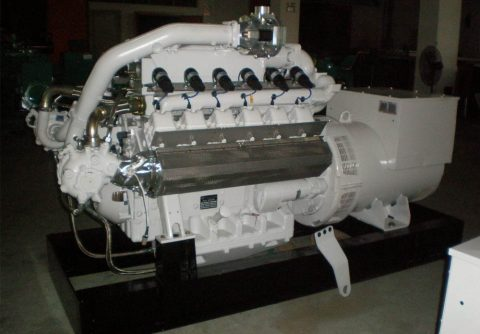100kw 125kva MAN biogas engine electricity generator set