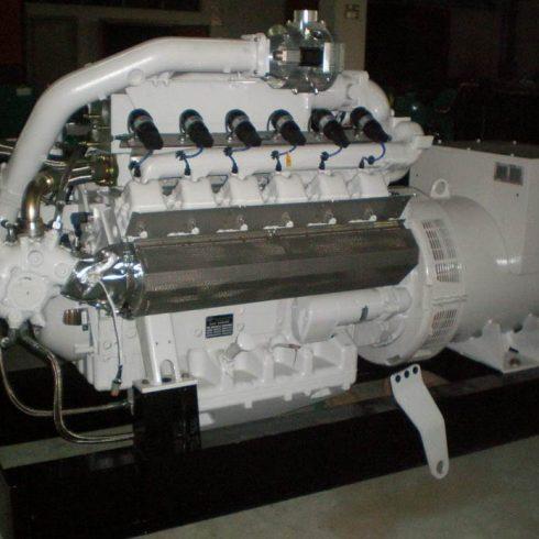 100kw 125kva MAN biogas engine electricity generator set
