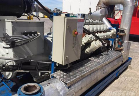 230kw 288kva MAN turbine engine methane shale gas generator set