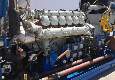 400kw 500kva original MAN sewage gas power plant generator set