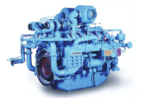 Turbocharged and inter cooling 875kw Perkins lpg engine generator set