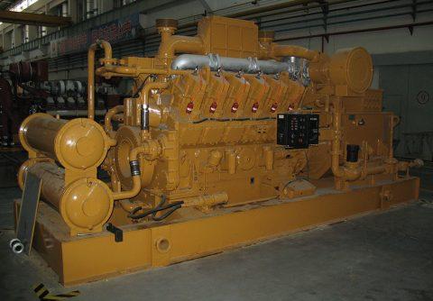1000kw 1MW JDEC natural gas generator 1500 rpm 12 cylinders engine