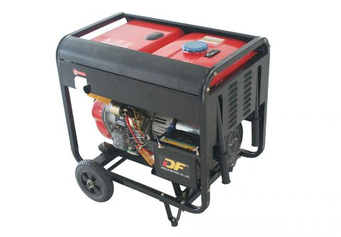 standby 2kw diesel generator with 4 wheels for sale via good mobility