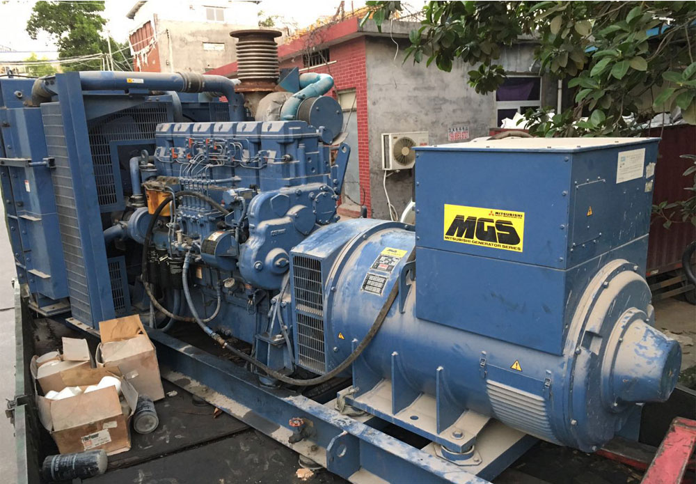 704kw-Mitsubishi-used-diesel-generator-50Hz-380v-for-standby-usage