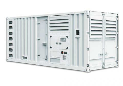 Containerized sound proof 640kw 800kva Perkins diesel generator dg set