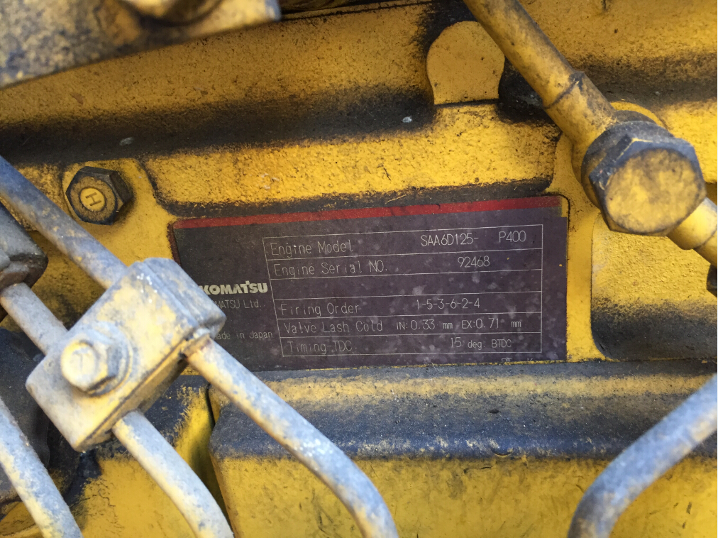 standby 308kw 385kva used Komatsu second hand diesel generator set engine serial number
