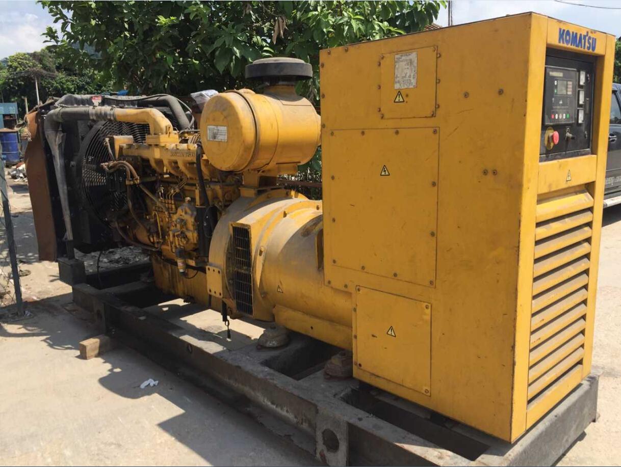 standby 308kw 385kva used Komatsu second hand diesel generator set