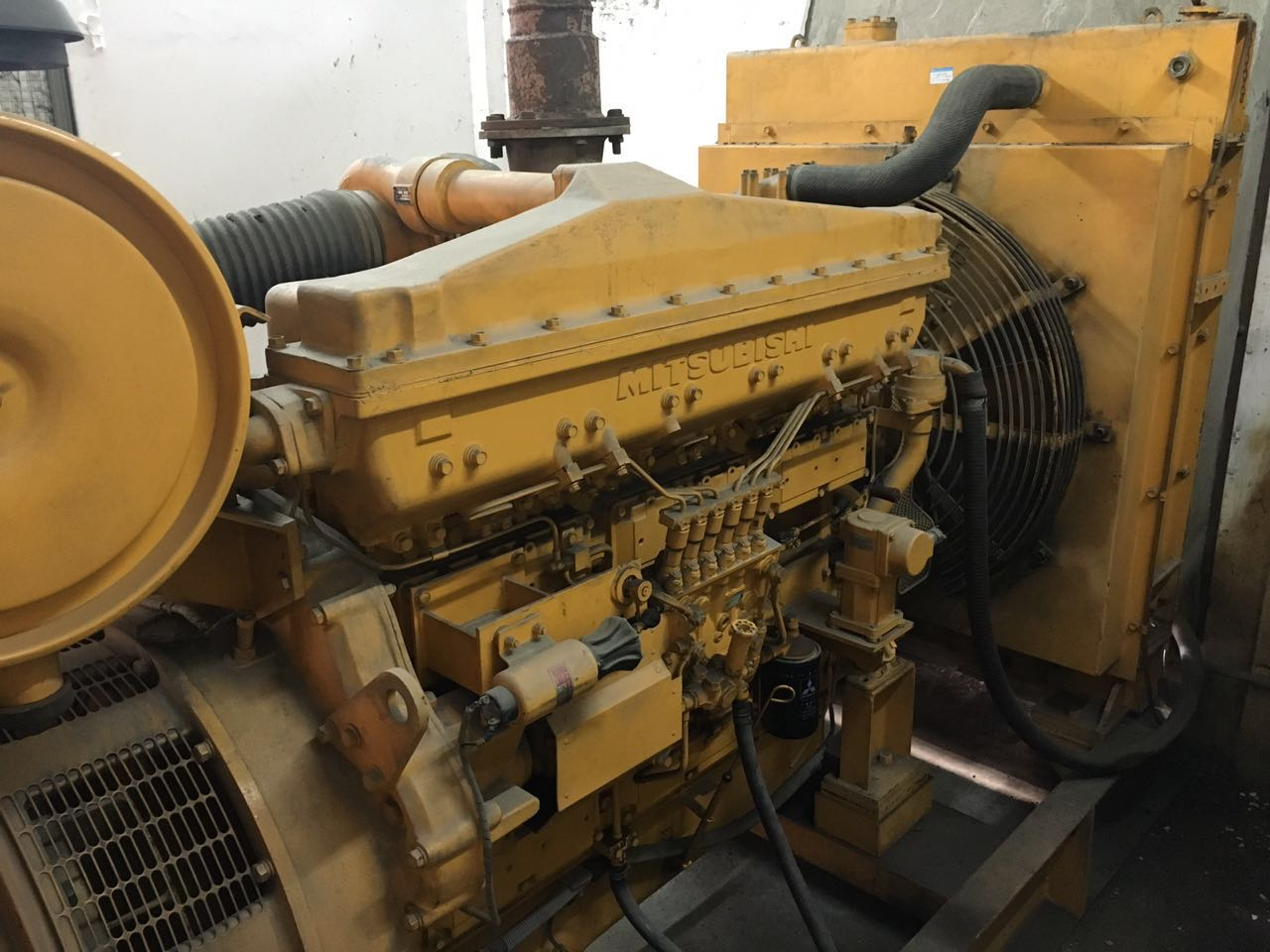 used 280kw Mitsubishi diesel generator set for sale